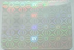 OPP透明膜镭射防伪