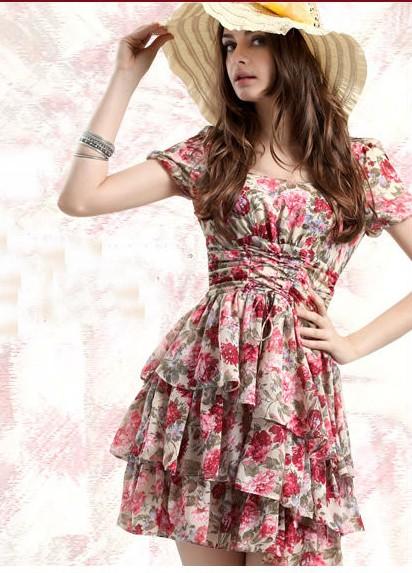 滚筒韩版连衣裙数码印花 热转印服装类印花加工