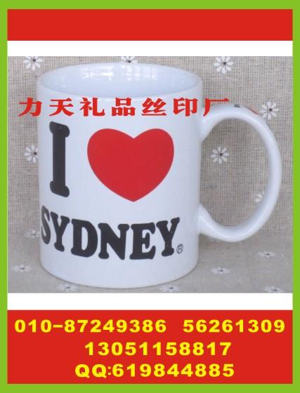 北京马克杯丝印logo 皮革包丝印字 运动水壶丝印字