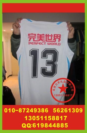 北京篮球服印号 篮球服烫印标志 速干T恤烫印字