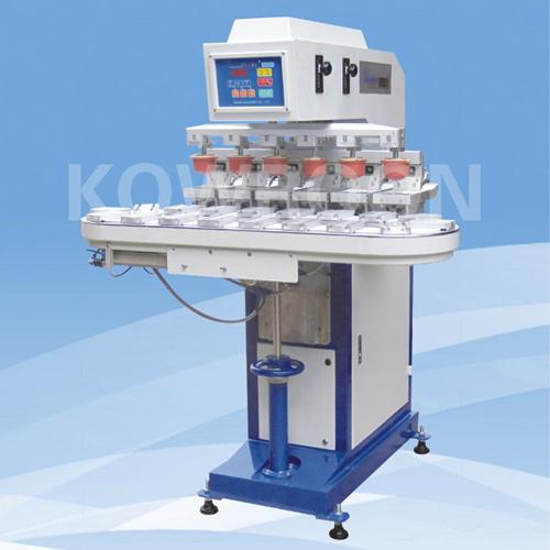 HL-200A/6 气动六色输送带移印机