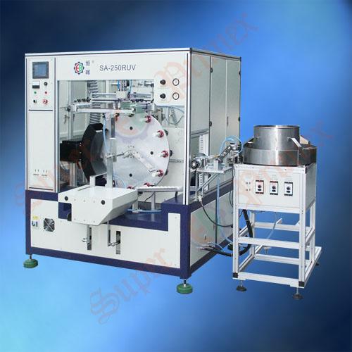 全自动丝印机SA-250RUV全自动圆面丝印机