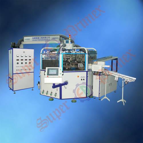 东莞全自动丝印机S4A-200R全自动软管/瓶盖四色丝印机