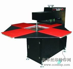 供应热转印设备 半自动 旋转式四工位烫画机