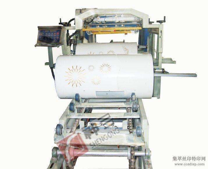 自动钢桶纸桶太阳能桶皮印刷