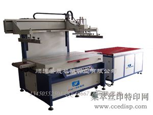 自动输送玻璃丝印机3/4自动进出料丝网印刷机(图)