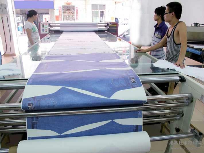 数码转印机服装印花机 滚筒转印机 服装印花机