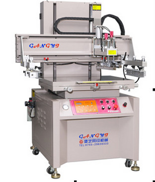 高精密电动垂直式丝印机GY-6090丝印机半自动丝印机自动丝印机
