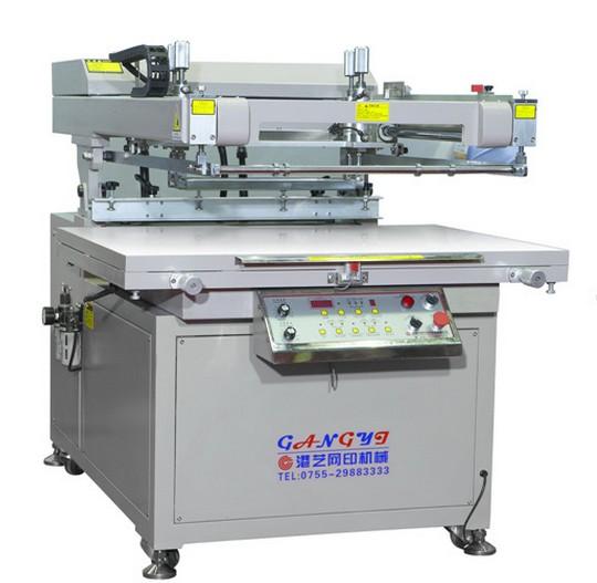 斜臂式高精密丝印机GY-70100丝印机平面丝印机半自动丝印机