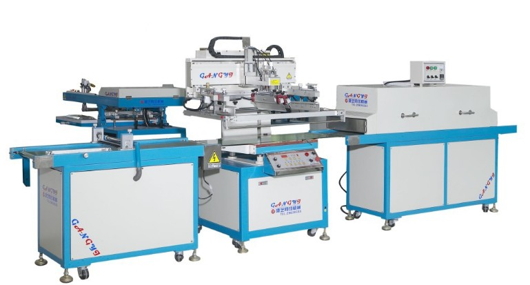全自动丝印机平面丝印机自动丝印机港艺丝印机厂家