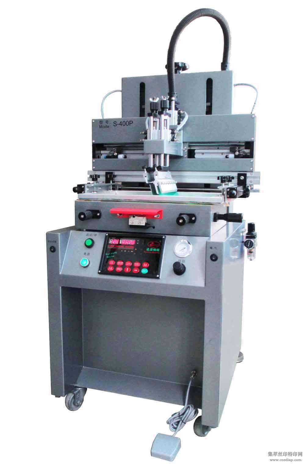 小型气动丝印机-S-400P半自动平面印刷机-东莞厂家