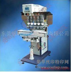 供应恒晖SPCS-858SDQ1独立印头伺服五色油盅移印机恒晖大厂直销