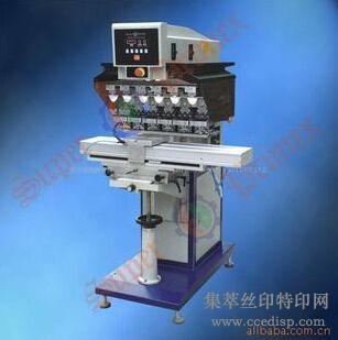 供应SP-868SD气动穿梭左右六色移印机恒晖大厂直销