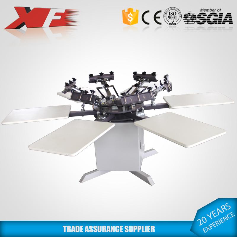 6色印花机手动丝印机规格大小可定制