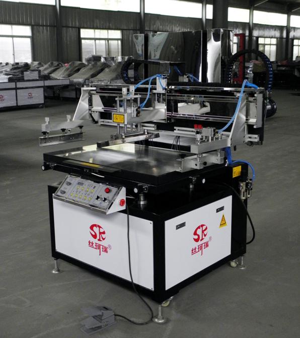 丝珂瑞精密导轨丝印机,SKR-CZ80120半自动高精密平面丝印机