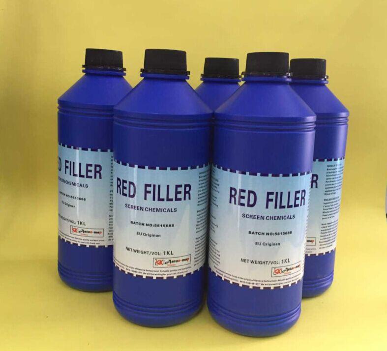 供应红色补边剂 耐溶刘型网板专用丝印网版耗材