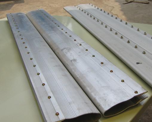 丝印铝刮柄 铝柄 PU木刮刀 胶刮