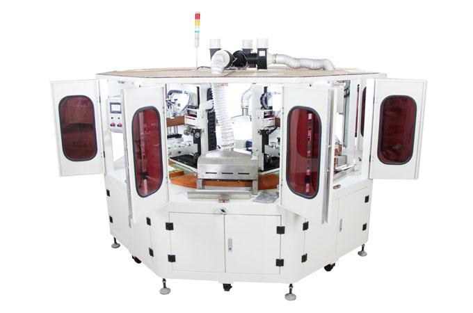 四色丝印机,四色平面丝印机,4色全自动丝网印刷机