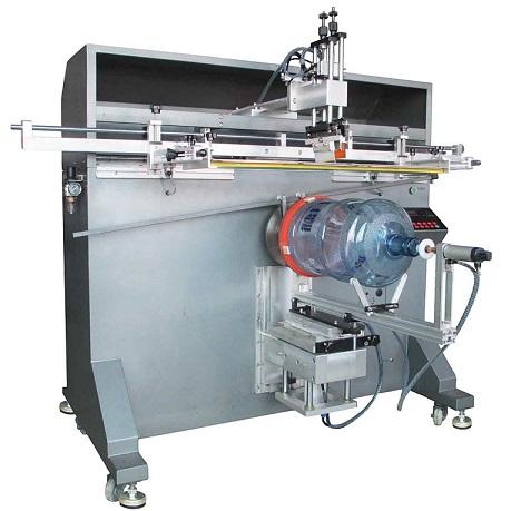 花盆丝印机,热水器桶丝印机,大型圆面丝印机