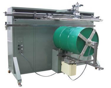 铁桶丝印机,油漆桶印刷机,大型圆形丝网印刷机