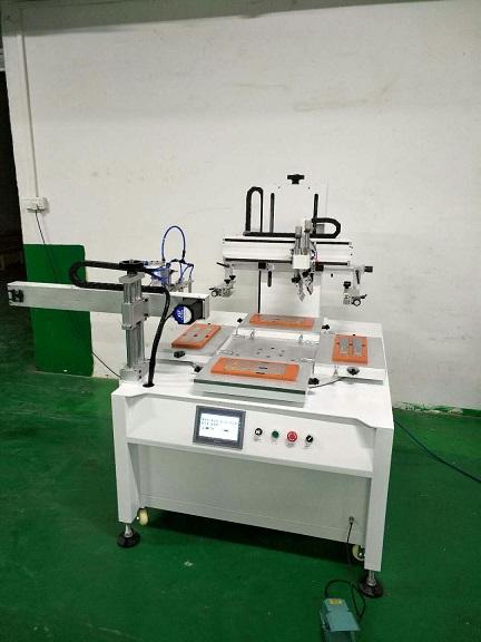 一出四丝印机,全自动丝印机,机械手上下料印刷机