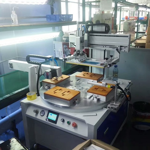 手机外壳丝印机,手机电池丝印机,塑胶面板丝网印刷机