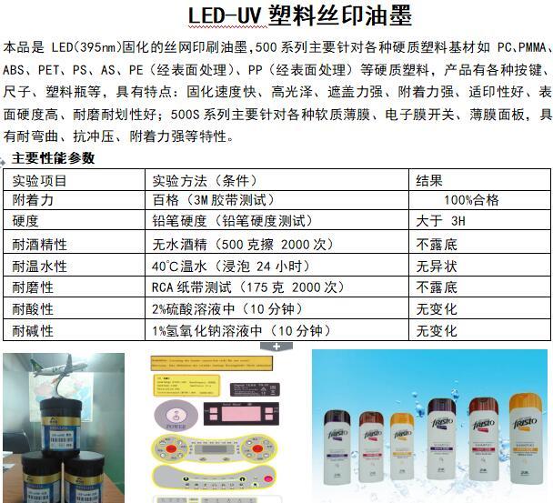 LED-uv丝印油墨
