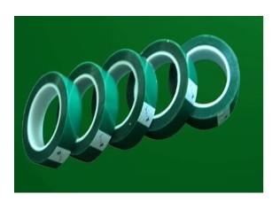 烤漆耐高温绿色胶带 高温烤漆保护胶带