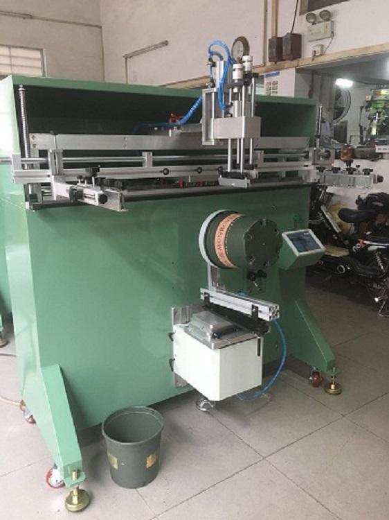 垃圾桶丝印机塑料桶丝网印刷机