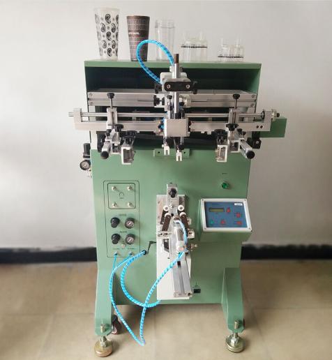 唐山市丝印机厂家餐盒餐盖丝网印刷机圆碗曲面移印机