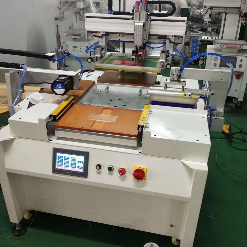皮革PU皮革网印机布料丝印机无纺布丝网印刷机