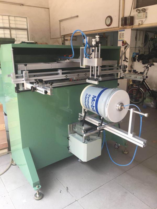 垃圾桶丝印机垃圾箱网印机喷雾器桶丝网印刷机铁桶滚印机