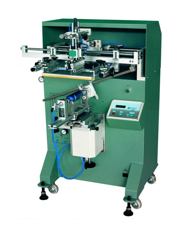 玻璃瓶曲面丝印机马克杯圆面滚印机铁管丝网印刷机