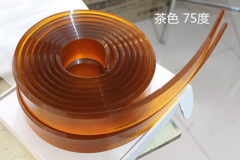 东莞40*7尖/平口丝印刮胶条茶色 绿色60 65 75度厂家直销