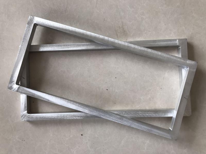 江苏徐州丝印铝合金网框 跑台印花铝框尺寸