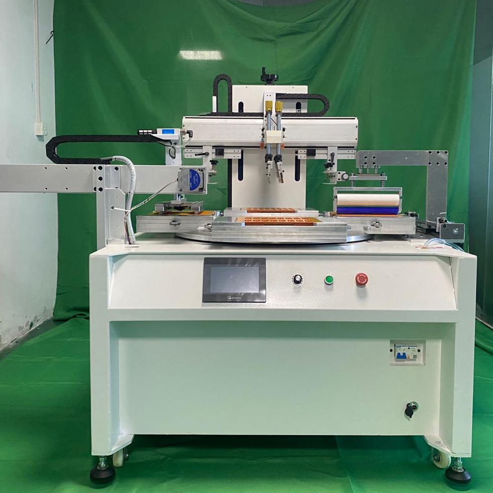 文具直尺丝印机厂家学生套尺转盘丝网印刷机