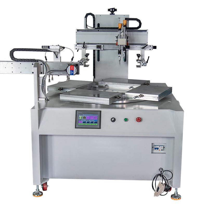 电器玻璃丝印机厂家玻璃面板转盘丝网印刷机