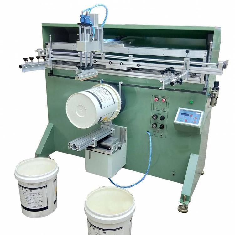 涂料桶丝印机,机油桶滚印机,矿泉水桶丝网印刷机
